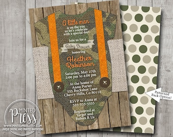 Boy baby shower thank you card camo camouflage hunter hunting etsy boy baby shower invitation camo camouflage hunter hunting orange suspenders wood burlap rustic printable digital i customize for you filmwisefo