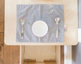 Montessori Placemats for Children, Place Setting Montessori Practical Life, Gift for Baby Placemat, Kids Table Mat