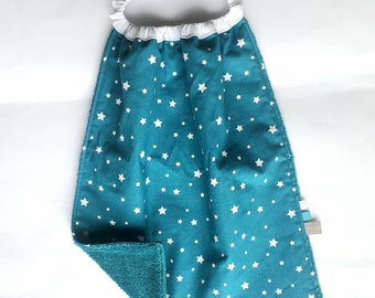 Montessori Bib Baby Girl, Bibs for Boys, Large Star Bib Montessori Preschool, Montessori Toddler Bib, Toddler Gift, Twinkle Little Star,