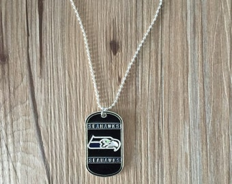 Seahawks Dog Tag with necklace
