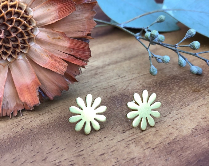 Featured listing image: Daisy Brass Studs