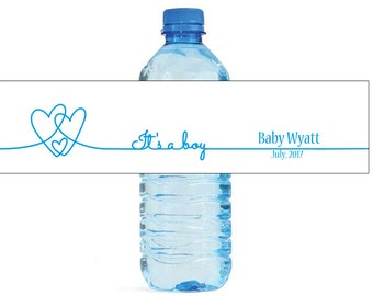Its a Boy Water Bottle Labels Great for Baby Showers New born baby celebrations Gender reveal parties easy to use self stick