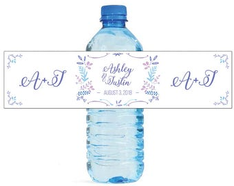 Spring Laurel Wedding Water Bottle Labels Great for Engagement Bridal Shower Birthday Party Anniversary Self Stick Labels