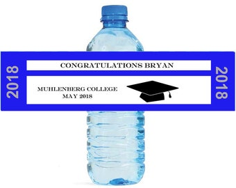 Graduation Ticket Theme Water Bottle Labels Great for Graduations, promotions or any other event