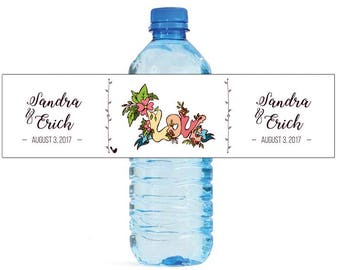 Love Floral Wedding Water Bottle Labels Great for Engagement Bridal Shower Party Self Stick Labels
