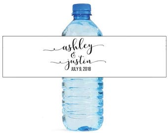 Forever Elegant fancy Wedding Water Bottle Labels Great for Engagement Bridal Shower Anniversary Party self stick