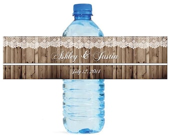 Formal Wedding / Anniversary, Birthday party, family reunion, Water Bottle Labels Customizable labels easy to use self stick