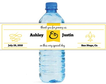 Thank you for joining us Wedding Anniversary Water Bottle Labels Customizable labels special occasion birthday self stick, easy to use