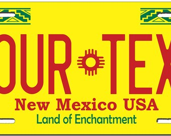 New Mexico  Custom Personalized License Plate Novelty Automobile Accessory Off Road Customized Durable Aluminum