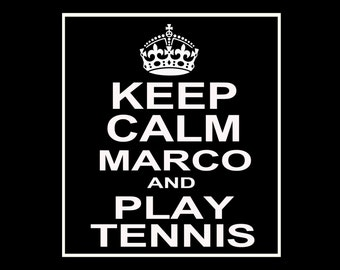 Keep Calm and Play Tennis Customizable Wine / Beer / Liquor Bottle Label Perfect way to turn a bottle into a memorable Gift