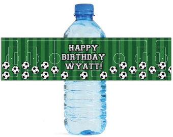 Soccer Party labels Great for kids Birthday party Water Bottle Labels Soccer Celebrations Tournaments playoffs soccer camp