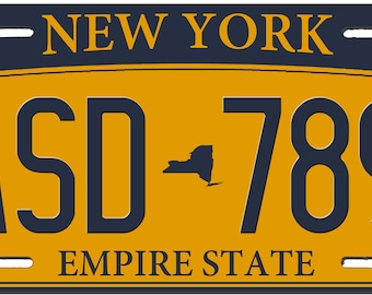New York Custom Personalized License Plate Novelty Automobile Accessory Off Road Customized Durable Aluminum