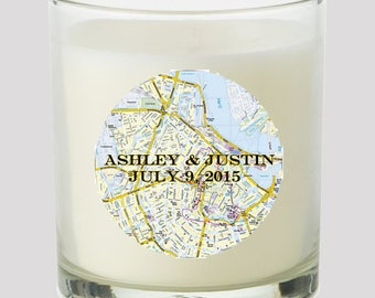 """Street Map 2"""" Party Favor labels Great for personalizing events Weddings Bridal Shower Candles Cupcake toppers Mason Jar decals Stickers"""