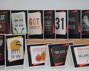 handmade pumpkin card for halloween blank greeting card jack etsy