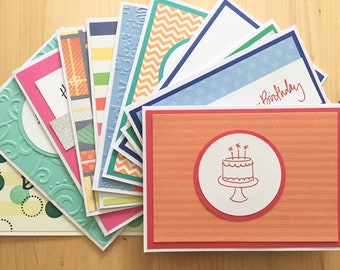 100 Handmade Birthday Cards Bulk Card Assortment Greeting And Monthly Organizer Storage Box