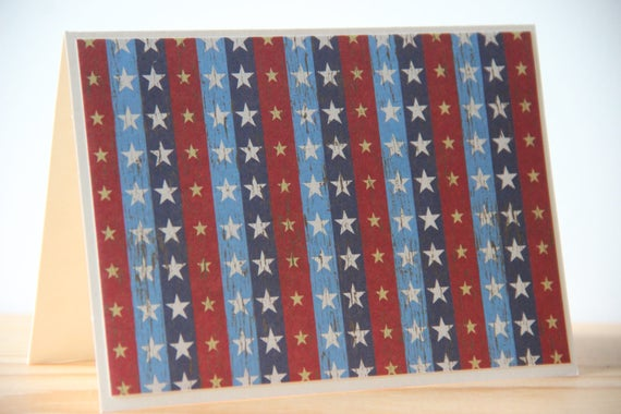 12ct 4th of July Cards. Rustic Americana Cards. Stars and Stripes Cards. Patriotic Greeting Cards.  Veteran's Day Cards