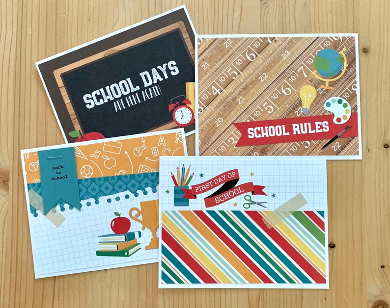 Back to School Cards. School Encouragement Greeting Card for image 0
