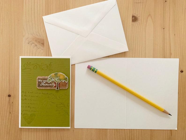 Family Tree Card. Family Handmade Greeting Card We are Family