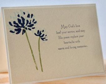 6 Religious Sympathy Greeting Cards. Sympathy Card Set. Condolence Cards. Christian Sympathy.  Blank Sympathy Cards. Handmade Sympathy Card