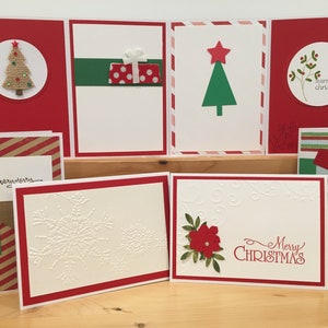 Christmas cards handmade etsy 8 red christmas cards handmade christmas card assortment set blank christmas cards holiday cards m4hsunfo