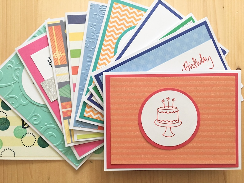 100 Handmade Birthday Cards Bulk