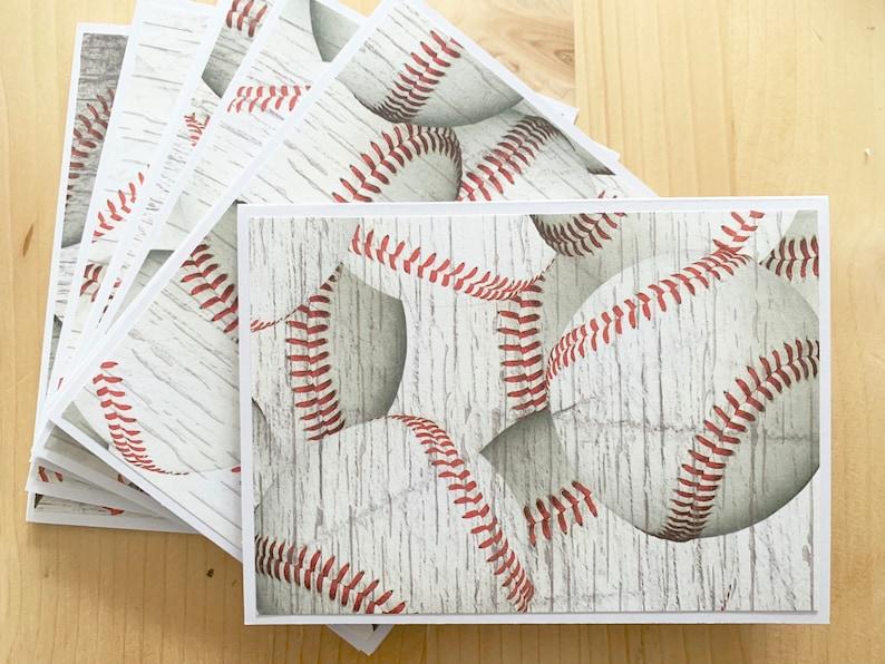 12 Baseball Note Cards Blank Baseball Card Set Baseball Thank You Cards Baseball Party Invitations Baseball Coach Thank You Card