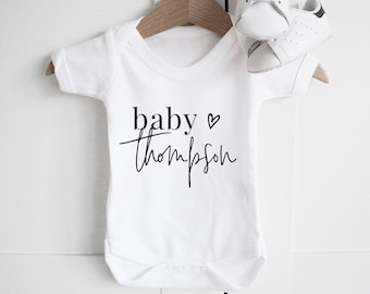 Personalized baby etsy personalised baby name short sleeve bodysuit baby announcement baby shower gift pregnancygift personalised baby clothes baby grows negle Choice Image