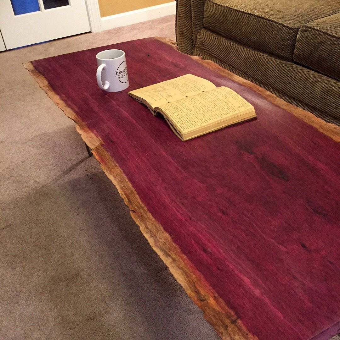 Surprising Purple Heart Wood Coffee Table Rascalartsnyc Interior Design Ideas Gresisoteloinfo
