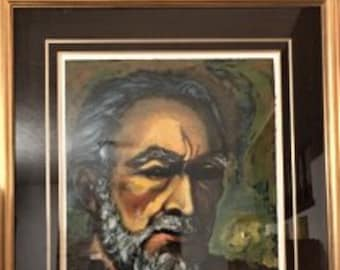 """Limited Edition lithograph Titled """"Zorba-A Self Portrait"""", signed by Anthony Quinn, 3/100, Ca 1986, C#1705"""