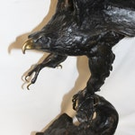 """Eagle Sculpture : Outstanding Jules Moigniez Recast Bronze Sculpture """"The Eagle"""" #408 Reserved for Frank"""