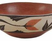 Native American Vintage Santo Domingo Pueblo Pottery Bowl Ca 1960 39 s, 1067