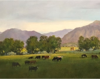 """Contemporary Oil Painting, Titled """"Summer Fields"""" by Noted Artist Steven Scott, #C1697"""