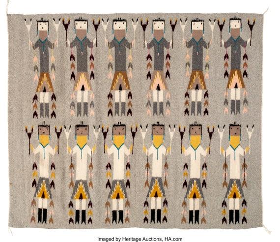 Martha Edsitty 53/'/' X 22 12/'/' Yei Rug Navajo Handwoven