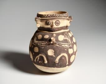 Beautiful Chancay Figural Vessel, Ca. 800-1200 AD, #7002