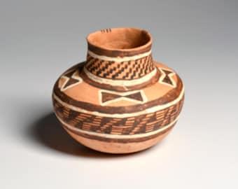 Native American, Homolovi Polychrome Jar with Butterflies, Ca. 1250-1300 A.D., #1703