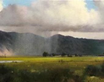 """Contemporary Oil Painting, Titled """"Cloud Burst"""", by Noted Artist Steven Scott, #C1696"""