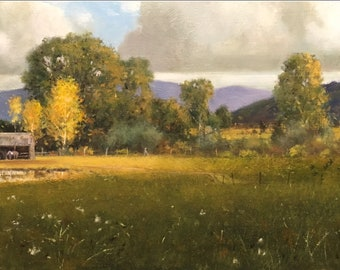 """Contemporary Oil Painting, Titled """"Montana Memories"""" by Noted Artist Steven Scott, #C1698"""