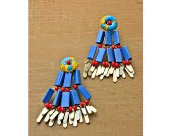 Gold Statement Earrings // Handmade • Fine Jewelry • Beaded // 18001