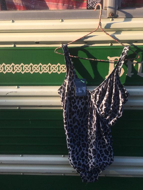 Vintage Leopard Shimmer Bathing Suit/Leotard | Vin