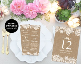 RUSTIC WEDDING DECOR, Photo Booth Inserts, Table Numbers, Place Cards, Bridal Shower Decor, Favors, Escort Cards, 2x6, Instant Download