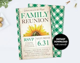 reunion invitation etsy