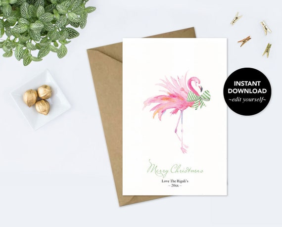 Christmas Thank You Card Template from i.etsystatic.com