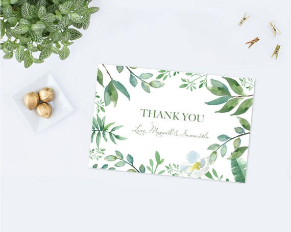 INSTANT DOWNLOAD printable DiY thank you letter Fully Editable Boho Wedding Thanks Card Template #Daniela Greenery Thank You Card