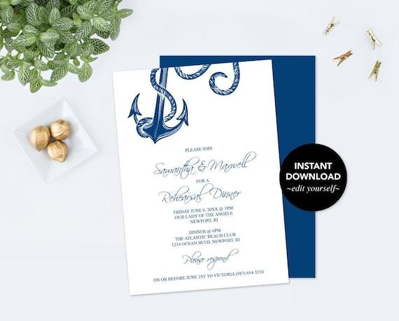 rehearsal dinner invitation dinner party invite template pdf