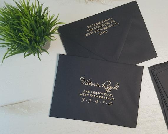Envelope Addressing Black A7 Envelopes Wedding Envelope