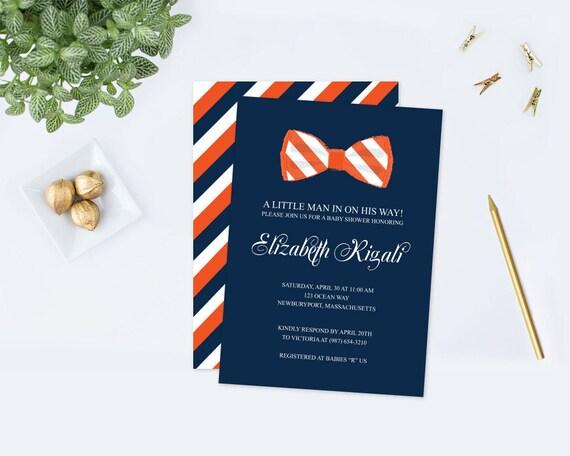 Printable Boy Birthday Invitation Card |Our Little Man| Bow Tie Design OLM-145 Gray Blue Green| Customize DIY No
