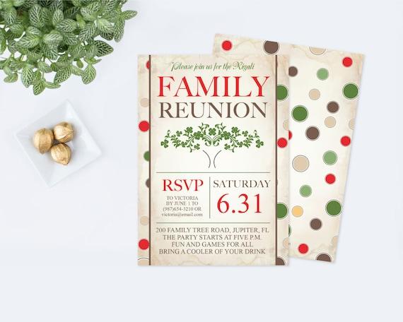 printable family reunion invitation editable pdf template etsy