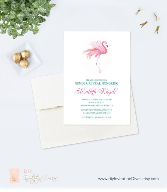 image relating to Printable Flamingo Template known as Crimson Flamingo Little one Shower Invite, Acrobat Reader Template