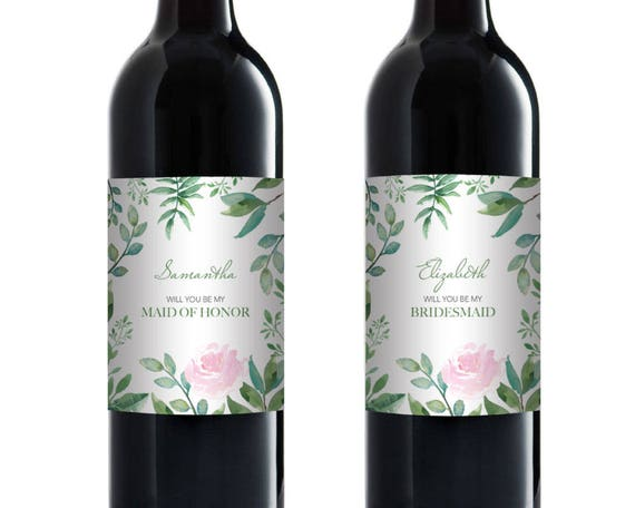 picture regarding Printable Wine Labels known as Prompt Obtain BRIDESMAID PROPOSAL Printable Wine Label