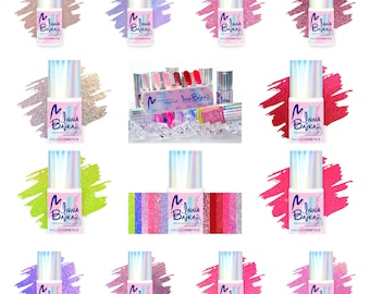 12pcs gel polish set Maga Inna Bajka 2 Collection glitter shimmer unicorn rainbow holographic indie shiny nails